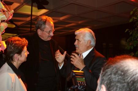 Der Münchner Oberbürgmeister im Gespräch mit Mario Adorf (2005). Bild: Michael Lucan