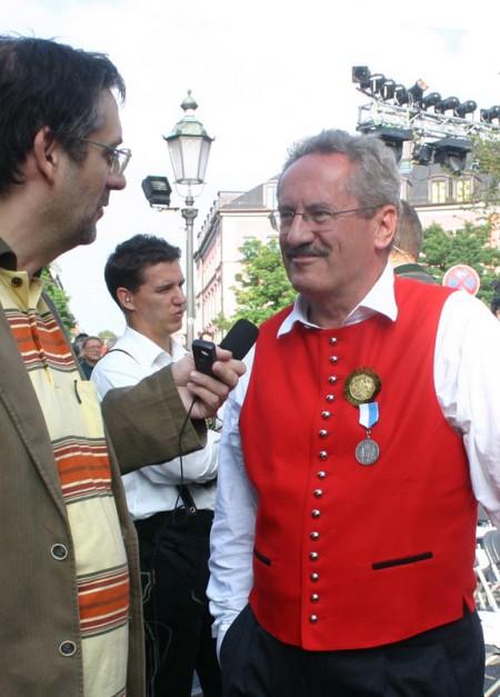 Michael Lucan befragt den Münchner OB Christian Ude (2006) - Foto: Cevriye Lucan