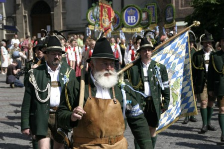 21.06.2008: Umzug aus Anlass des Münchner Brauer-Tages. Bild: Michael Lucan